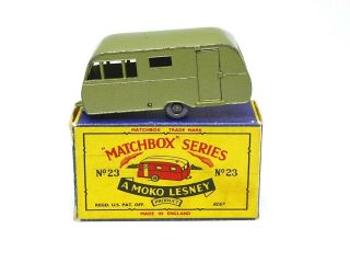 Matchbox Lesney No.  23c Bluebird Dauphine Caravan (very Rare Metallic Lime Green)
