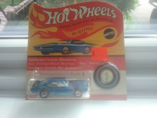Hot Wheel Redline 1971 Blue Old 442 Blister Pack In