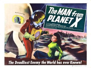 1951 The Man From Planet X Vintage Sci Fi Movie Poster Print Style B 18x24