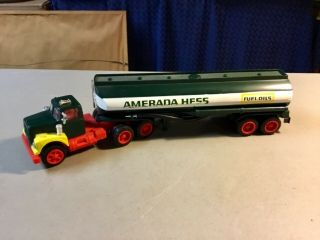 """Amerada Hess Fuel Oil Tanker Truck - Rare Hard To Find """"holy Grail"""" Hess Truck"""