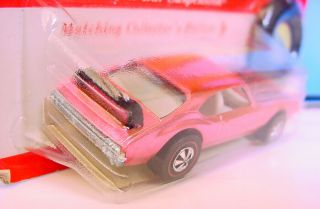 HOT WHEELS REDLINE FACTORY FLAW ' OLDS 442 PINK ?? BASE MINTY CARDED 5
