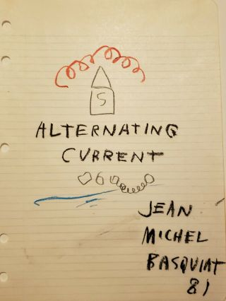 Jean Michel Basquiat Signed,  Oilstick & Graphite Investment Opportunity