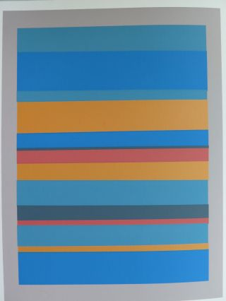 Josef Albers Silkscreen Folder Xviii - 7 Left Interaction Of Color 1963