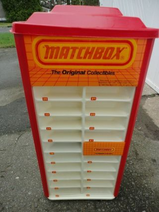 1984 Matchbox Rotating Display Case With Box Lesney Hot Wheels Redlines