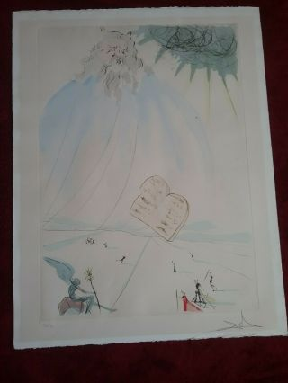 Salvador Dali Hand Signed & 366/400 Moses From (our Historical Heritage Series)