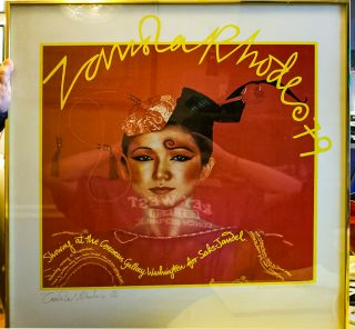 Signed & Numbered Print Promoting Zandra Rhodes