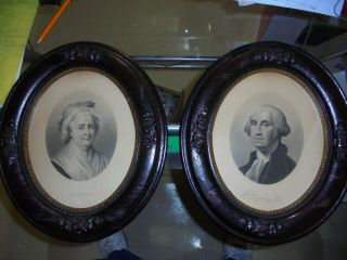 President George Washington & Martha Engravings By J.  C Buttre In Period Frames