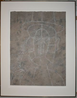 Listed Mexican Artist Rufino Tamayo,  Signed Mixografia Print 1979