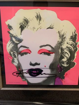 "Signed Andy Warhol "" Marilyn "" Castelli Invitation 12 X 12 W/provenance"