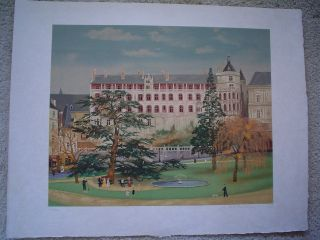 "Michel Delacroix Lithograph "" Chateau Blois "" - Signed & Numbered"