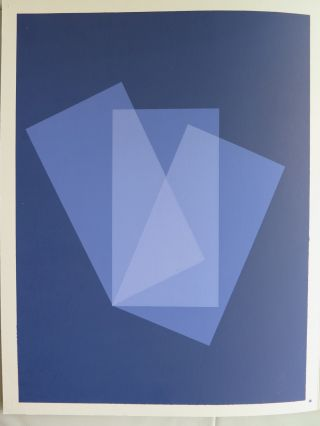 Josef Albers Silkscreen Folder X - 1 Left/right Interaction Of Color 1963