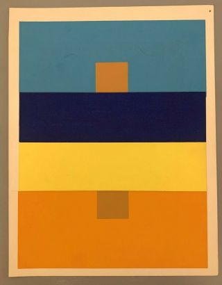 Josef Albers,  4 Silkscreens,  Interaction Of Color 1963