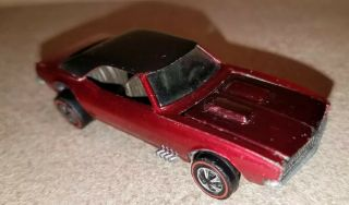 1967 Custom Camaro Redline Hot Wheel Rare Color Burnt Orange/red Black Roof