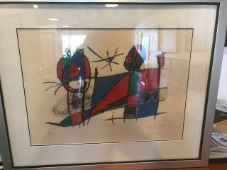 Joan Miro Color Lithograph Limited Edition One Of 5 H/c,  Signed,