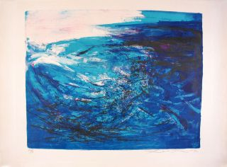 Zao Wou - Ki - Lithography Signed Numbered And Dated 1967 - Composition 164