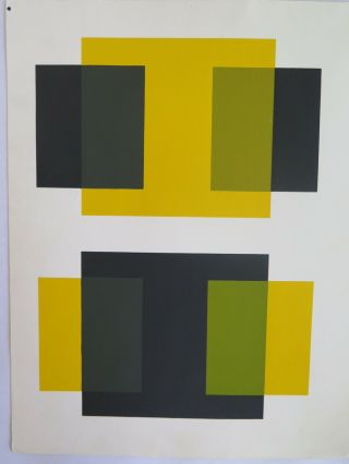 Josef Albers Silkscreen Folder Xi - 1/left Interaction Of Color 1963