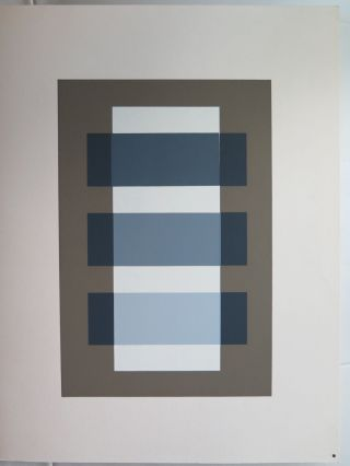 Josef Albers Silkscreen Folder Xi - 3 Right Interaction Of Color 1963