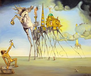 The Temptation Of St.  Anthony A1,  By Salvador Dali Canvas Print
