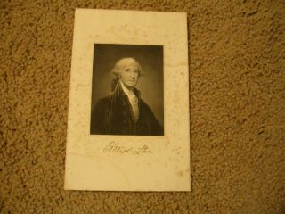 George Washington 1897 Engraving /