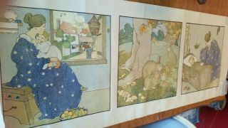 """54 """" 1917 Arts & Crafts Color Lithograph By Mary Louise Spoor,  Congdon"""
