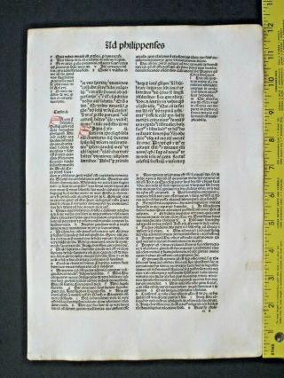 Incunabula,  Latin Bible,  Paul